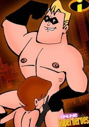 Elastigirl blows Mr. Incredible