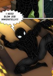Horny black Spiderman