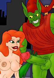 Poison Ivy sucking Green Goblin's cock