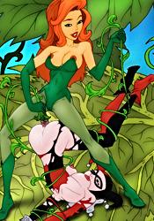 Poison Ivy fucks Harley Quinn