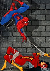 Spiderman and Fly sexy action