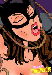 Hot Catwoman in bondage action