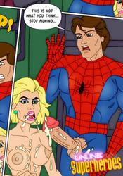 Peter Parker's huge cock