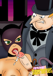 Catwoman sucking Pinguin's dick
