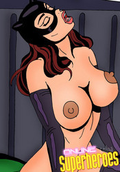 Huge catwoman's boobs