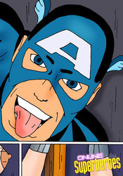 Captain America and WonderWoman sex