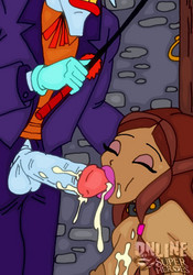 Hot Layla Winx blows Joker's cock