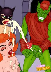 Poison Ivy gets facial cumshot